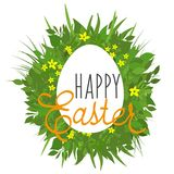 Wielkanocni powitania na abstrakcjonistycznym tle royalty ilustracja