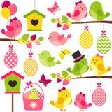 Wielkanocni ptaki Zdjęcia Royalty Free