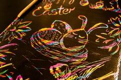 Wielkanocni rysunków dzieciaki Fotografia Royalty Free