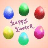 Wielkanocni szczęśliwi jajka Fotografia Royalty Free