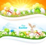 Wielkanocni tła Zdjęcia Royalty Free