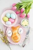 Wielkanocny śniadaniowy stół obrazy stock