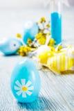 Wielkanocny świeczki jajko Obrazy Royalty Free