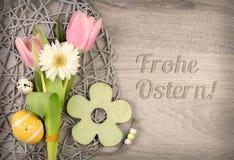 Wielkanocny arragement i podpis Obraz Stock