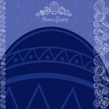 Wielkanocny błękitny tła jajka sztandar Obrazy Royalty Free