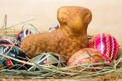 Wielkanocny baranek i jajka Obrazy Royalty Free