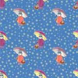 Wielkanocny bezszwowy pattern-01 Zdjęcia Royalty Free