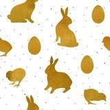 Wielkanocny Bezszwowy Pattern1 Zdjęcia Royalty Free