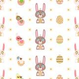 Wielkanocny bezszwowy wzór Zdjęcia Stock