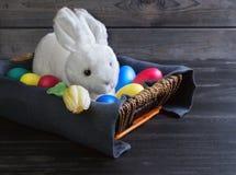 Wielkanocny biały królik Obraz Stock