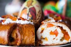 Wielkanocny chleb Zdjęcia Royalty Free