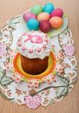 Wielkanocny chleb i jajka Obraz Stock