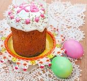 Wielkanocny chleb i jajka Zdjęcie Royalty Free