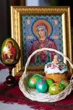 Wielkanocny chleb i jajka Obrazy Stock