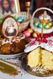 Wielkanocny chleb i jajka Obrazy Royalty Free