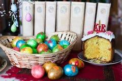 Wielkanocny chleb i jajka Fotografia Royalty Free