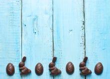 Wielkanocny czekoladowego cukierku królik i jajka Obraz Stock