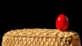 Wielkanocny czerwony jajko Obraz Royalty Free