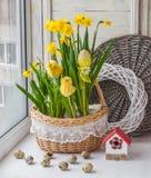 Wielkanocny dekoracja balkon Zdjęcie Royalty Free