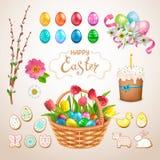 Wielkanocny duży set ilustracji
