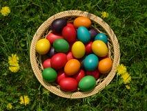 Wielkanocny Jajeczny Kosz Fotografia Stock