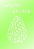 Wielkanocny jajko biali kwiaty Zdjęcia Royalty Free