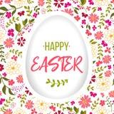 Wielkanocny jajko dekorował z różnym kwiecistym elementu wzorem również zwrócić corel ilustracji wektora Zdjęcie Stock