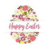 Wielkanocny jajko dekorował z różnym kwiecistym elementu wzorem również zwrócić corel ilustracji wektora Zdjęcie Royalty Free