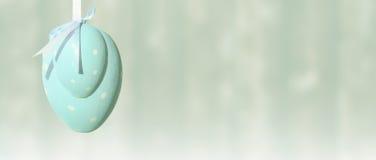 Wielkanocny jajko, faborek, błękitny pastel, sztandar, tło zdjęcia royalty free
