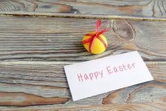Wielkanocny jajko i notatka zdjęcie stock