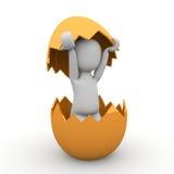 Wielkanocny jajko z skorupą Zdjęcia Stock