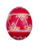 Wielkanocny jajko malujący w ludu stylu Obraz Stock