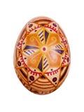 Wielkanocny jajko malujący w ludu stylu Fotografia Stock
