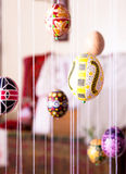 Wielkanocny jajko malujący w ludu stylu Zdjęcie Royalty Free
