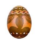 Wielkanocny jajko malujący w ludu stylu Zdjęcia Stock