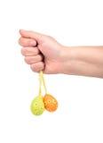 Wielkanocny jajko w ręce obrazy royalty free