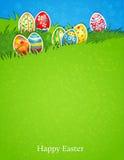 Wielkanocny jajko w trawie Obraz Royalty Free