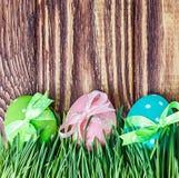 Wielkanocny jajko w trawie Obrazy Stock