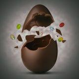 Wielkanocny jajko wybuchający Zdjęcia Royalty Free