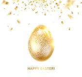 Wielkanocny jajko z krzywami tasiemkowi confetti royalty ilustracja