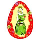 Wielkanocny jajko z madonną Zdjęcie Stock