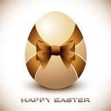 Wielkanocny jajko z Silky łękiem Fotografia Royalty Free