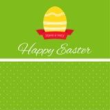Wielkanocny jajko z tasiemkowym sztandarem Zdjęcie Stock