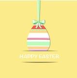 Wielkanocny jajko z zielonym faborkiem Zdjęcie Stock