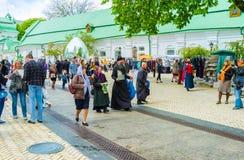 Wielkanocny jarmark w Kijowskim Pechersk Lavra Fotografia Stock