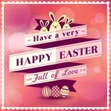 Wielkanocny karciany projekt Obrazy Stock