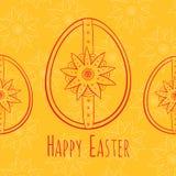 Wielkanocny kartka z pozdrowieniami Zdjęcia Stock