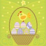 Wielkanocny kosz Zdjęcia Stock