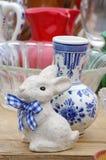 Wielkanocny królik ceramiczny obrazy royalty free