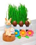Wielkanocny królik, Easter jajek dekoracja Obraz Stock